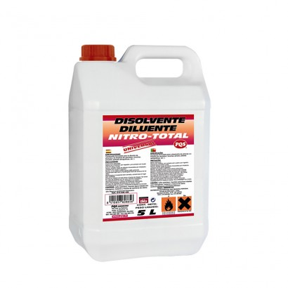 Disolvente nitro total garrafa 5 lt  pqs