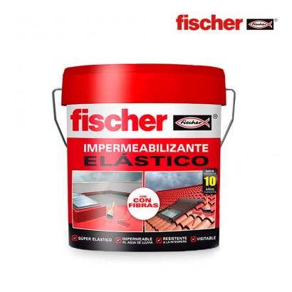 Impermeabilizante 4l blanco con fibras fischer