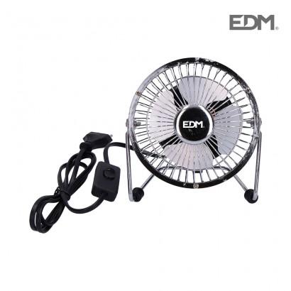 Mini ventilador industrial de sobremesa cromado 15w ø aspas 10 cm edm