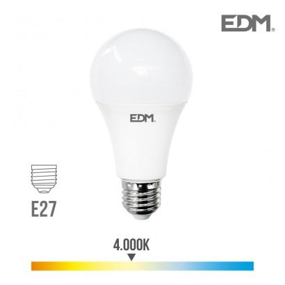 Bombilla standard led e27 24w 2700 lm 4000k luz dia edm