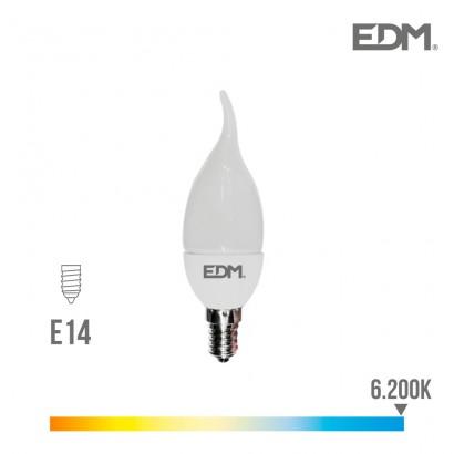 Bombilla vela bohemia led e14 5w 400 lm 6400k luz fria edm