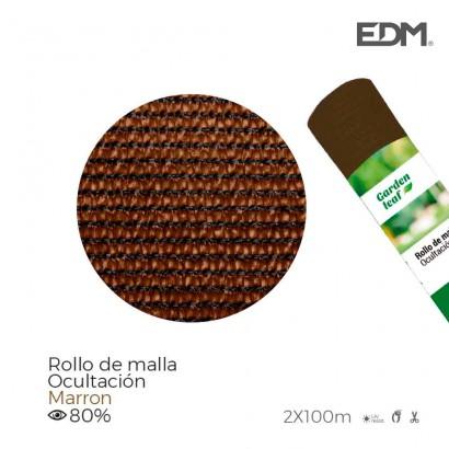 Malla plegable marron 80% 90gr 1,50x10mts