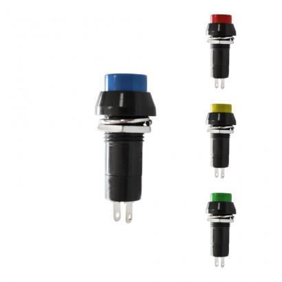 Interruptor unipolar base redonda 1a 250v colores surtidos