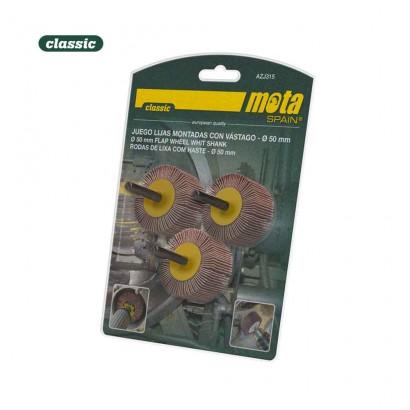 Juego cepillos lamina 30x15x6mm 3 granos 50-80-120 azj315