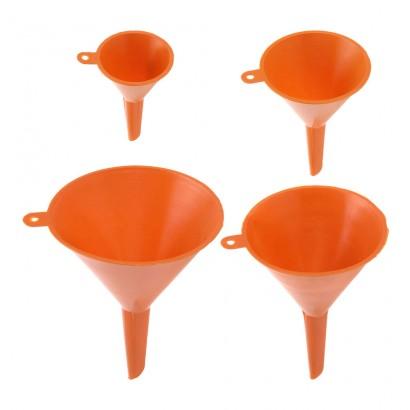 Set 4 embudos naranja