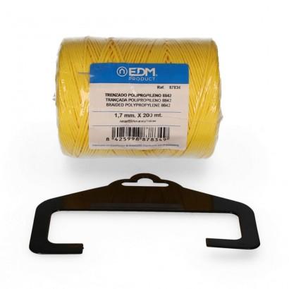 Bobina trenzada polipropileno 8842 200mts amarillo
