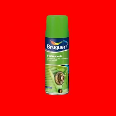 Fluorescente spray rojo 0.4l bruguer