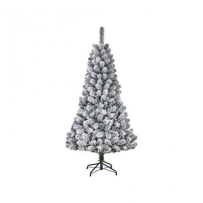 Arbol de navidad efecto escarcha con 164 ramas 120x71cm