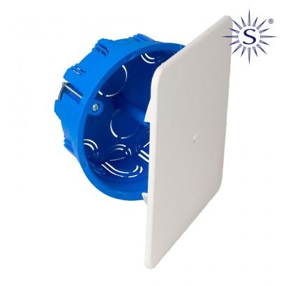 Caja de empalme para conexion y derivacion en tabiques huecos ø100x46mm solera