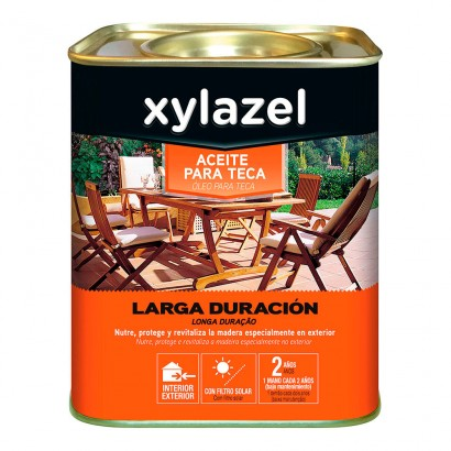 Xylazel aceite para teca larga duracion color roble 0.750l