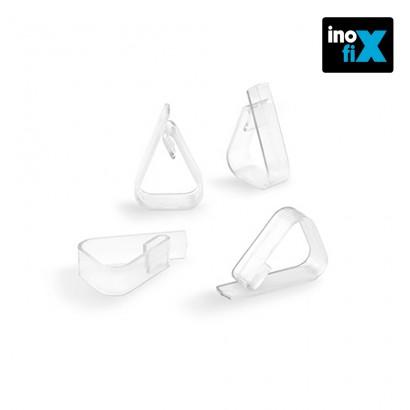 Pinza sujeta mantel transparente (blister 4 unid) inofix