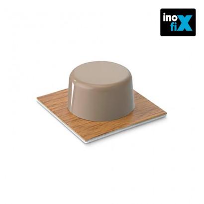 Tope adhesivo parquet beige (blister 2 unid) inofix